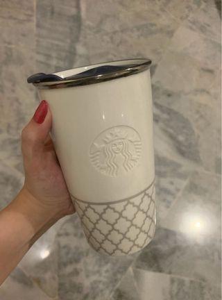 Starbucks Porcelain White / Blue Tumbler