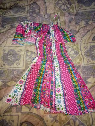 Dress Batik mini sabrina pink