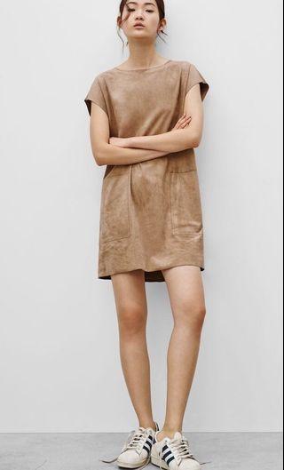 Grey Suede Wilfred Dress
