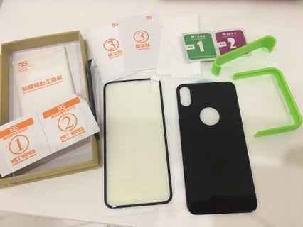 防爆鋼化玻璃膜 送貼膜神器抗藍光iPhone X