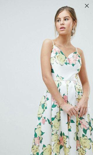 英國 ASOS Chichi London 歐美風格印花洋裝