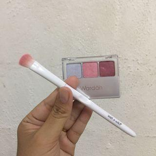 Wardah Eyeshadow L + Wet n Wild Eyeshadow Brush