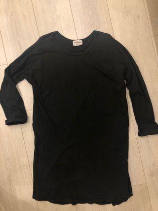 二手) 貓曬購入 one piece 黑色簡約洋裝