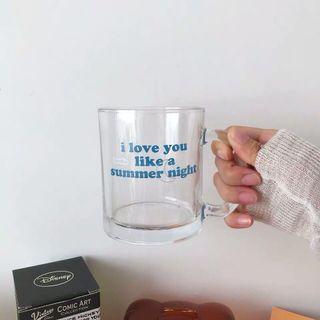 我愛你像夏天夜晚一樣 玻璃杯 水杯 咖啡杯🌙🌚