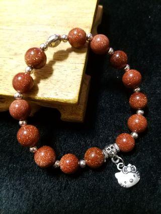 金沙石 瓢蟲 KT貓 藏銀 設計款 手珠 手飾 飾品(99)