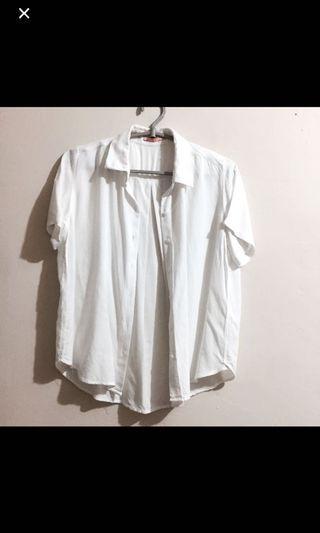 [REPRICE] White Shirt / White Top