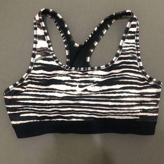 Nike黑白條紋運動內衣