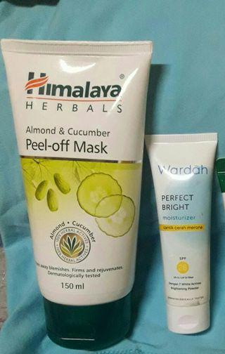 Himalaya Peel Off Mask  90% free wardah whittening moisturise