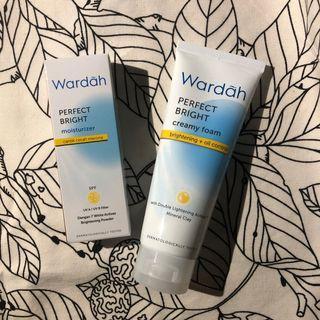 💆🏻♀️ Wardah PERFECT BRIGHT  Series (creamy foam + moisturizer)
