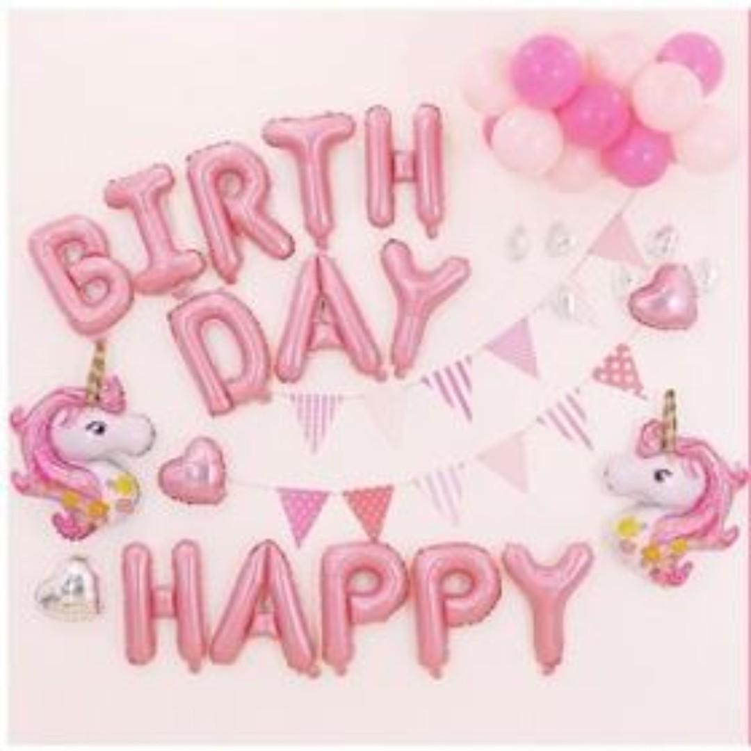 43pcs/Set Unicorn Birthday Party Balloon Set Decoration