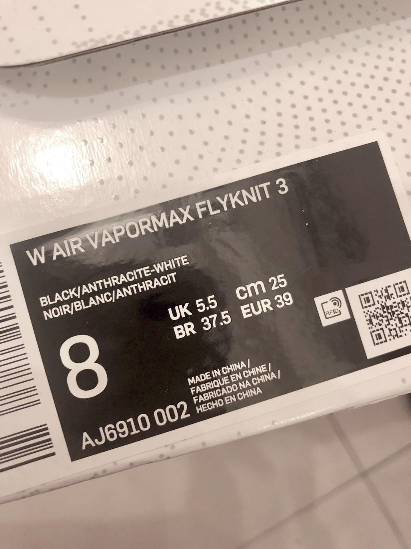 9.9成新 女鞋 Nike Air VaporMax Flyknit 3