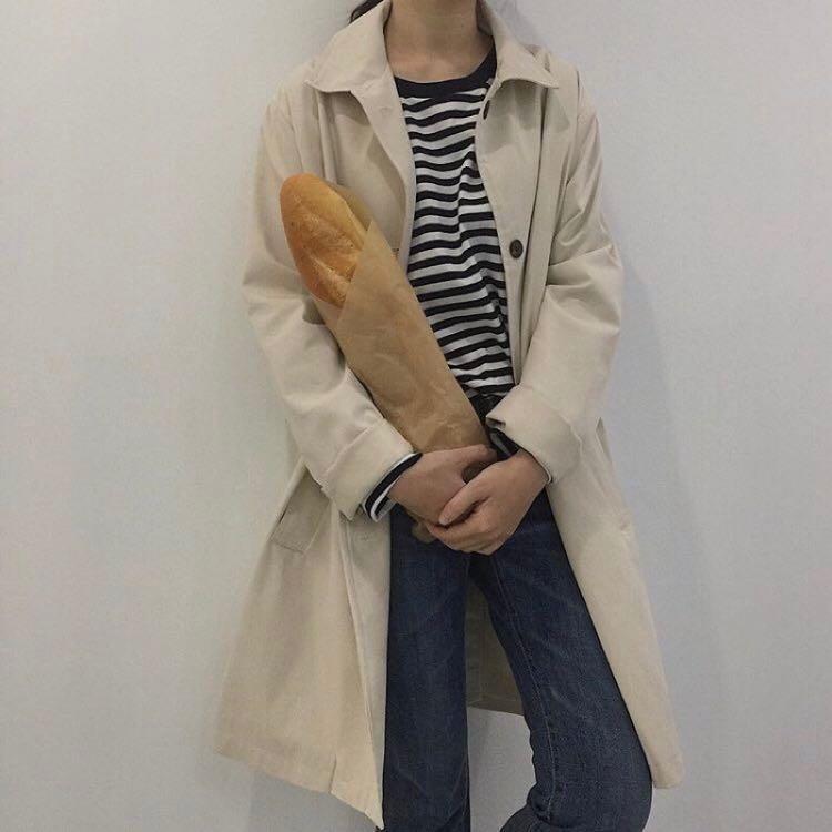 限時特價!!少見的米白風衣外套/全新