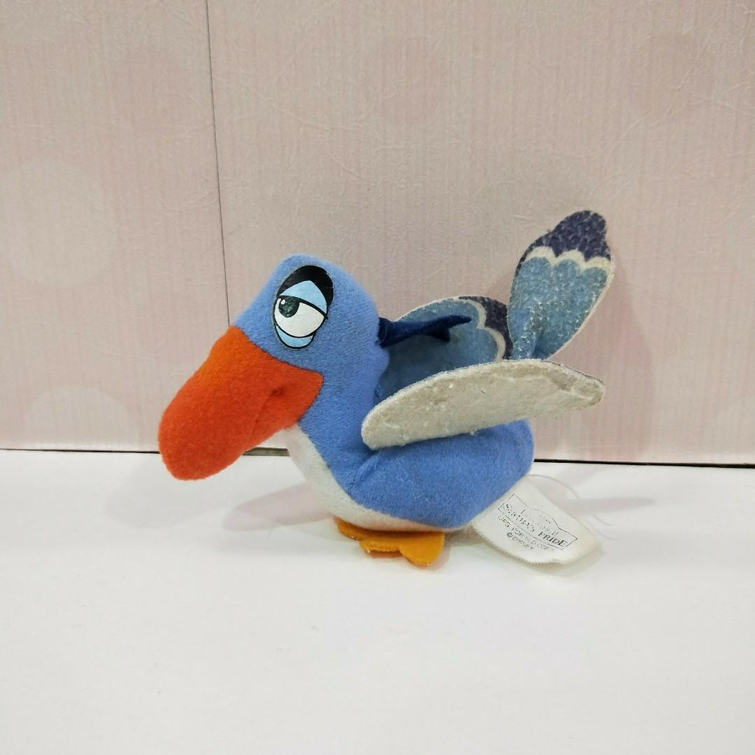 一元即結/二手懷舊藍色的鳥小布偶娃娃/愛瑞獅的藏寶箱