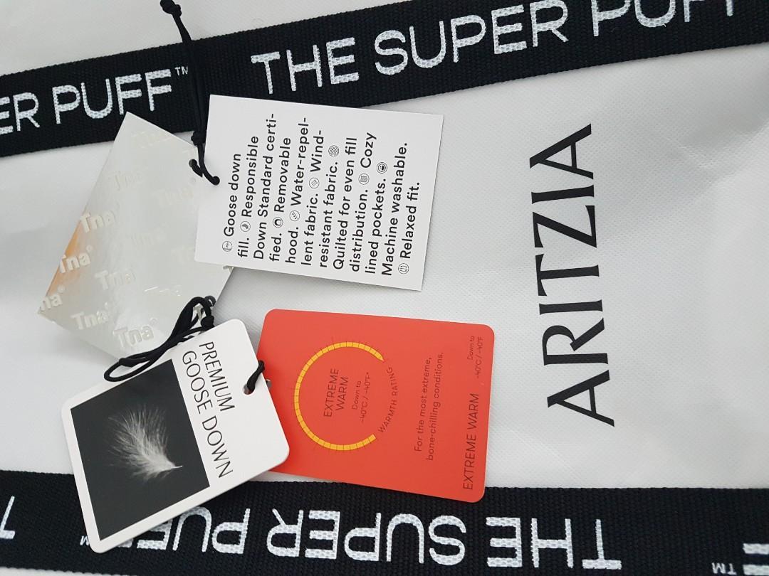 Aritzia Super Puff winter coat parka, long, size XS, matte black