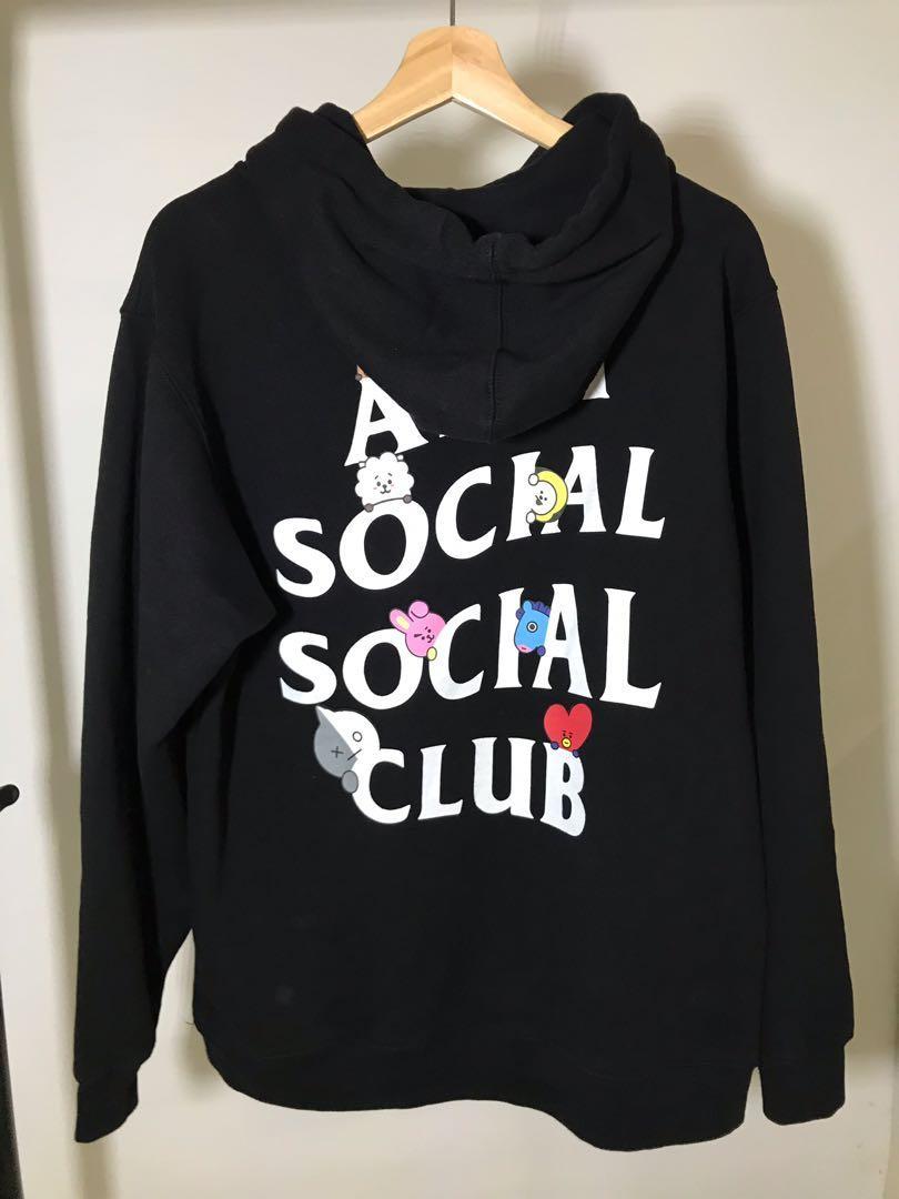 ASSC Anti Social Social Club x BT21 black hoodie