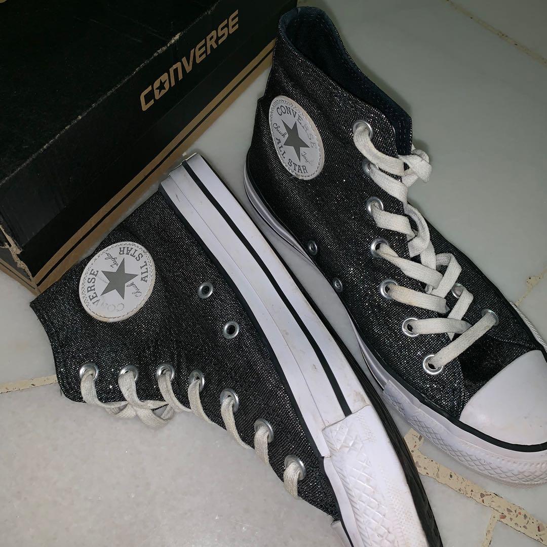 Black Converse High Cut shoes, Women's
