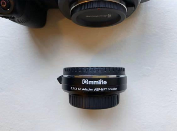 Commlite 0.71x Speed Booster Canon EF mount to Micro 4/3