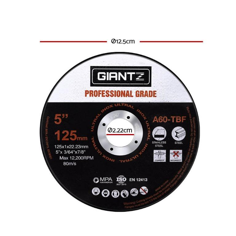 Giantz 200 x 5″ Cutting Disc 125mm Metal Cut Off Wheel Angle Grinder Thin Steel