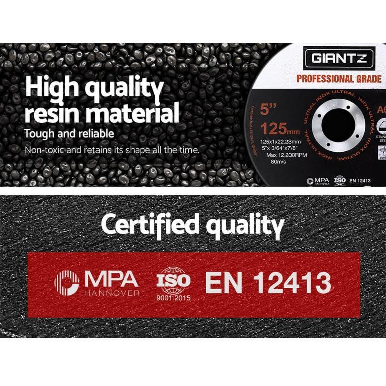 Giantz 500 x 5″ Cutting Disc 125mm Metal Cut Off Wheel Angle Grinder Thin Steel