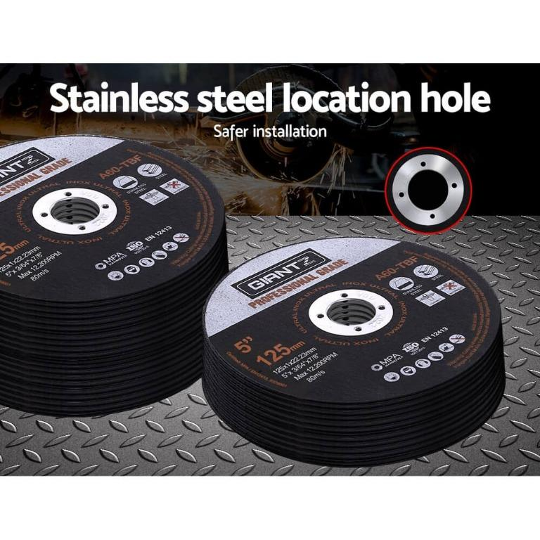 Giantz 50 x 5″ Cutting Disc 125mm Metal Cut Off Wheel Angle Grinder Thin Steel
