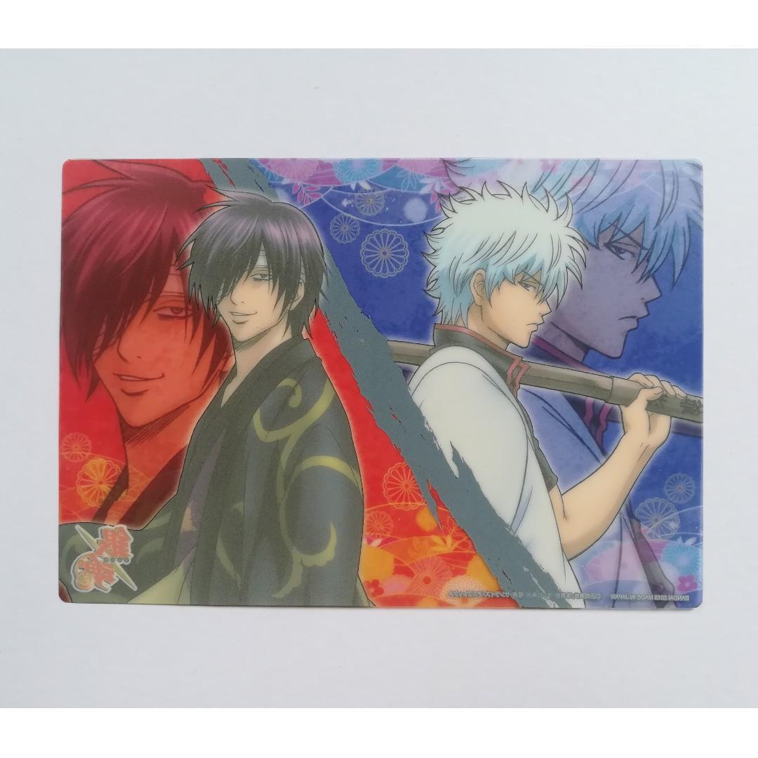 Gintama - Sakata Gintoki & Takasugi Shinsuke - Clear Character Card / Clear Plate