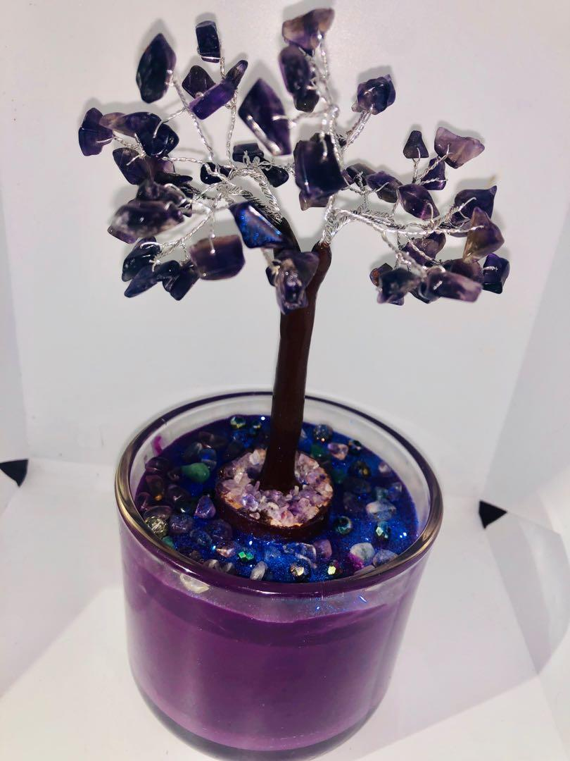 Handmade crystal tree