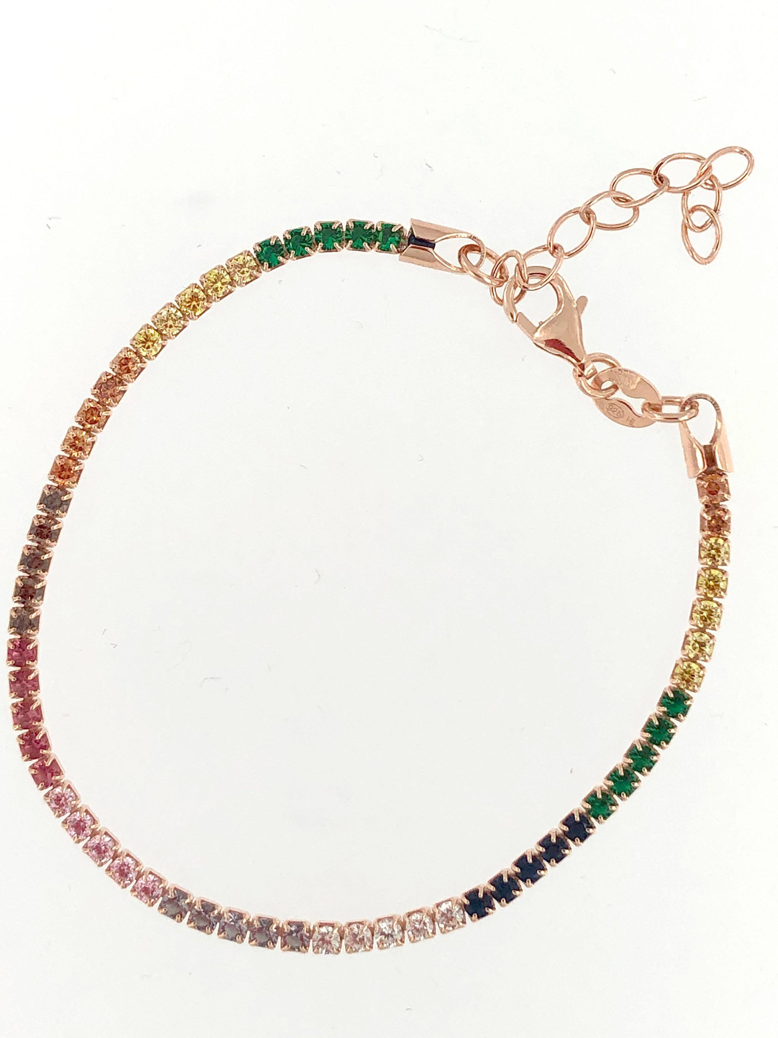 Italian Rainbow Tennis bracelet