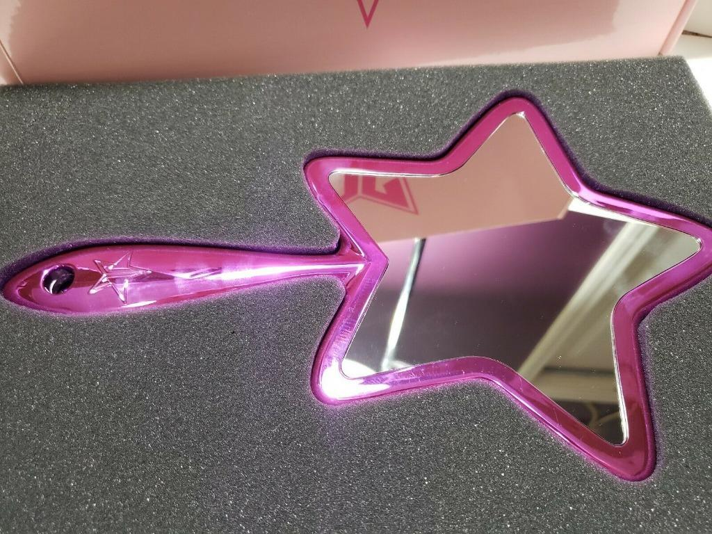JEFFREE STAR Cosmetics Chrome Hand Held Logo Mirror- PURPLE BRAND NEW & AUTHENTIC [PRICE IS FIRM & FINAL]