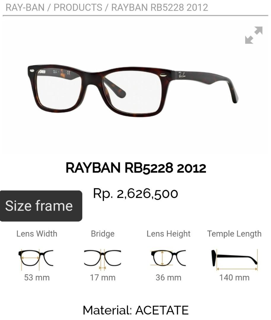 Kacamata Rayban RB5228 2012 Original