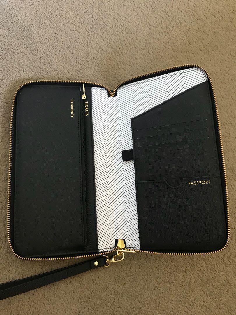 Kikki K Black Travel Wallet