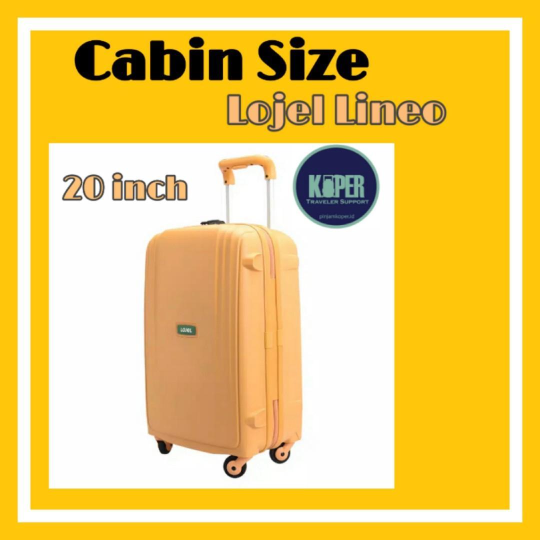 Koper Lojel lineo size cabin / sewa koper / pinjam koper
