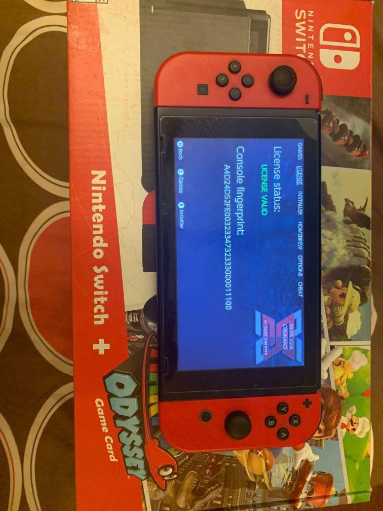 Mario limiented edition Switch Console fw3.0 and sx pro