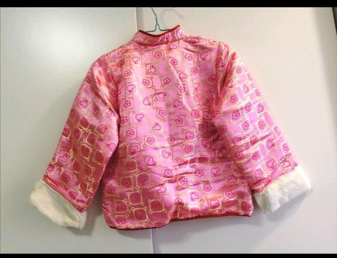 MICKEY外套 唐裝棉襖 兒童過年服裝 禮服外套 外套 女童 小孩子 秋 冬