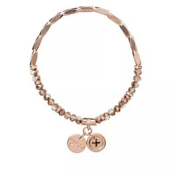 Mimco Rose Gold beaded bracelet RRP $40 pre-owned