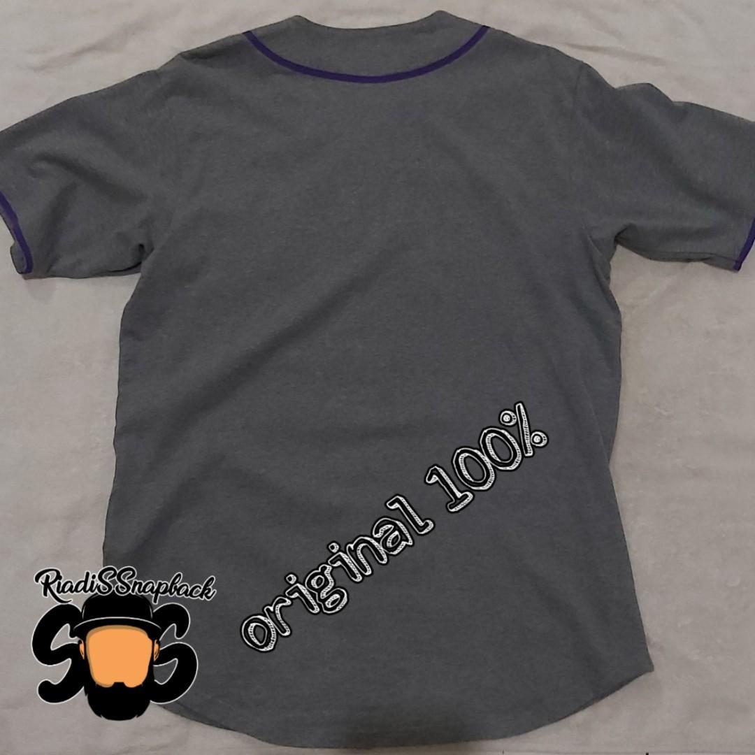original stussy jersey baseball shirt not bape supreme aape