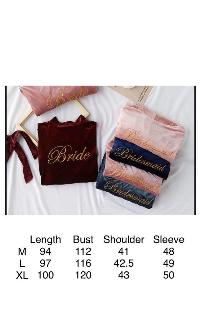 Preorder Bride and Bridesmaid Robe