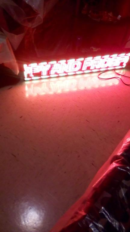 Programmable RGB (Triple Led) Scrolling, Adjustable Speed AD Sig - $350 (North York)