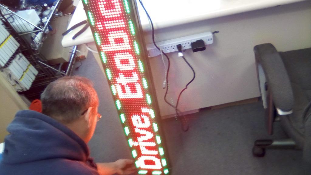 Programmable RGB (Triple Led) Scrolling, Adjustable Speed AD Sig - $350 (North York)