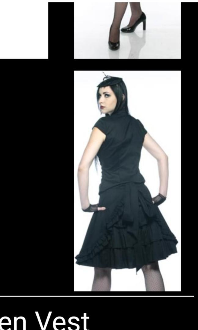 Rare Lip Service gothic Lolita maid ruffle blacklist skirt vintage  small