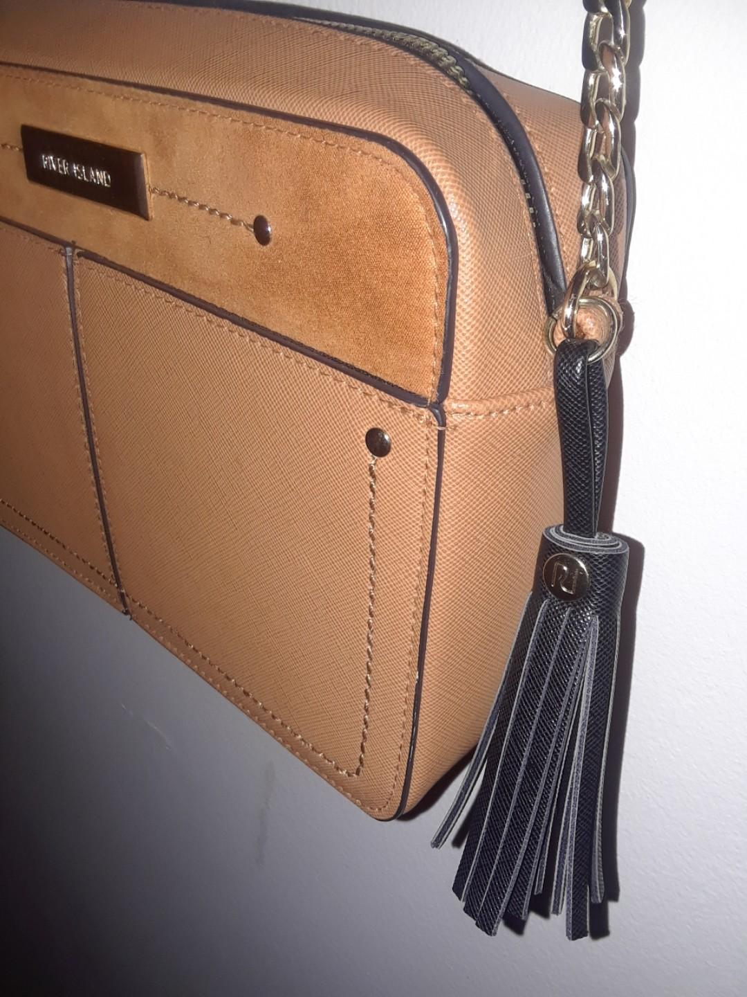 River Island 2 options (or as a lot) used purses bags black / camel OR snakeskin / suede