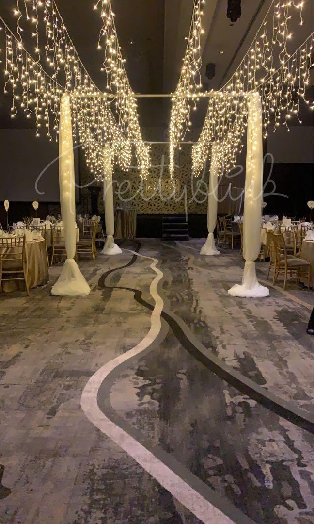 [SETUP] Wedding Venue/ Aisle Fairylight Setup