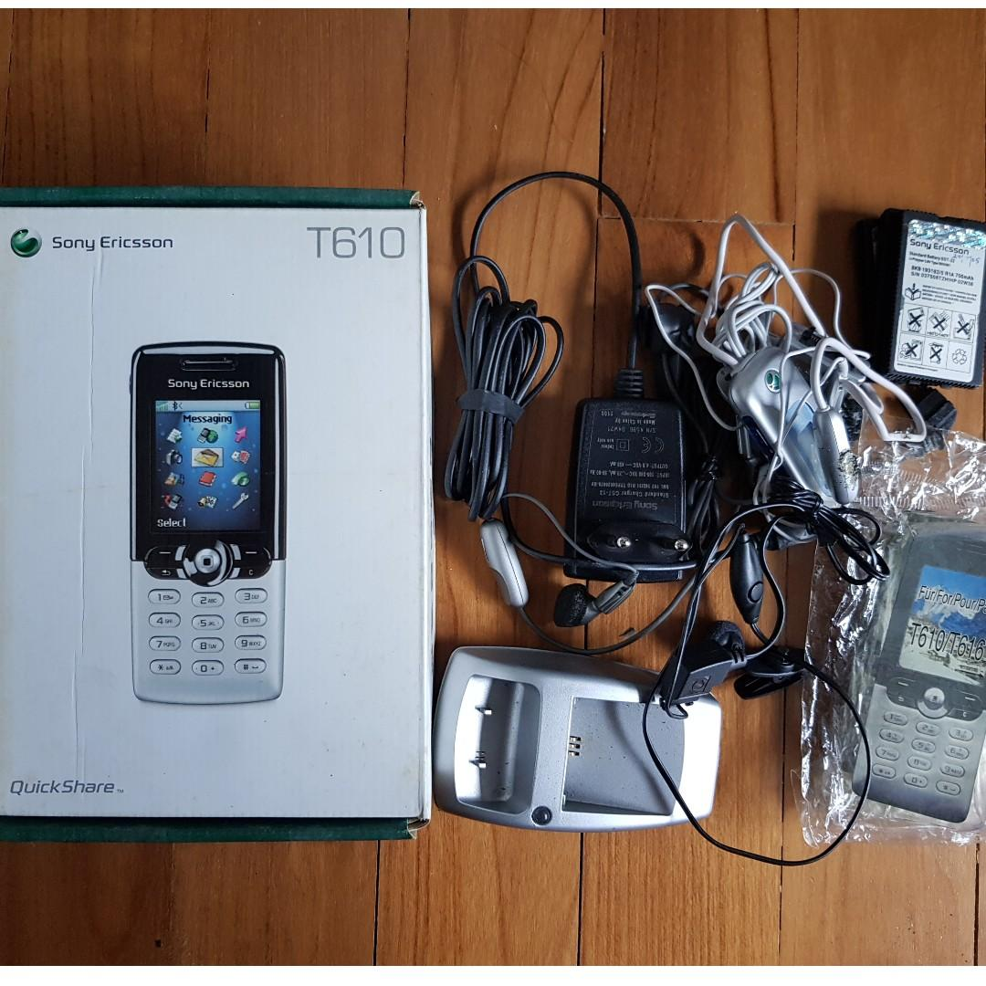 Super Rare Retro Sony Ericsson T610 Antique Handphone (with box, battery, charger etc)
