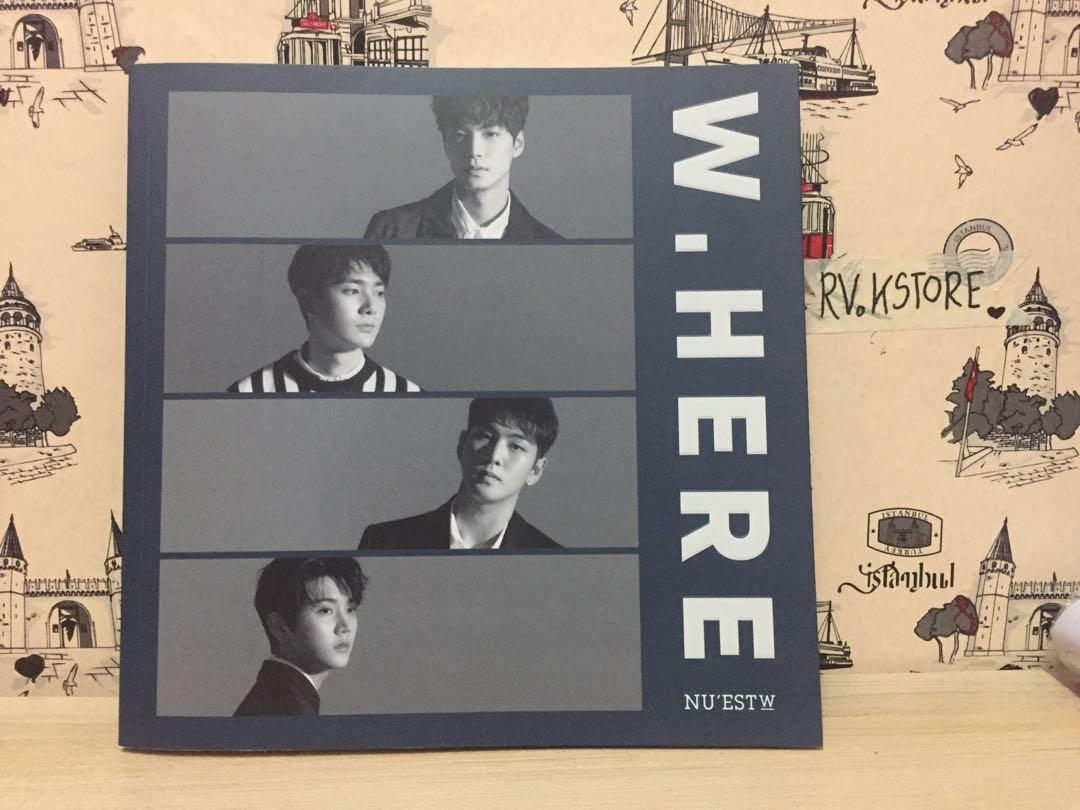 [FREE POSTAGE] (Unsealed) NUEST W - W.HERE Portrait Ver. (No Photocard)