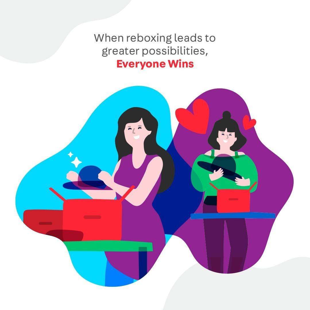 When a little Reboxing leads to new possibilities, #EveryoneWins.