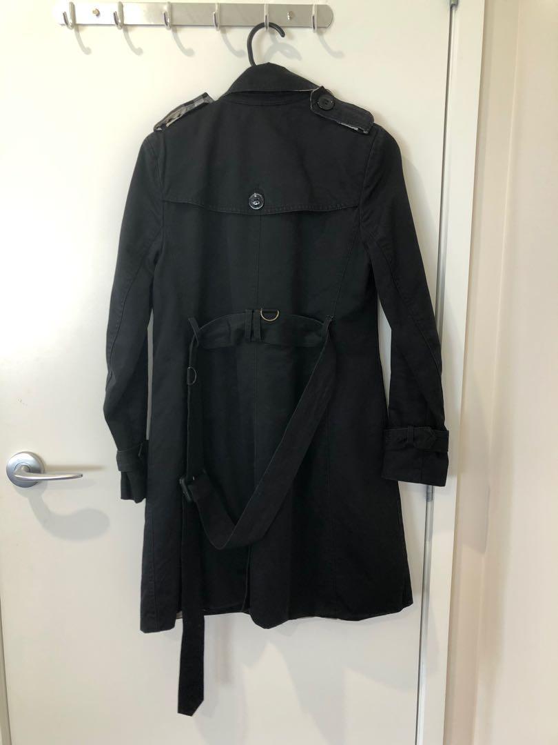 Zara coat black dust coat