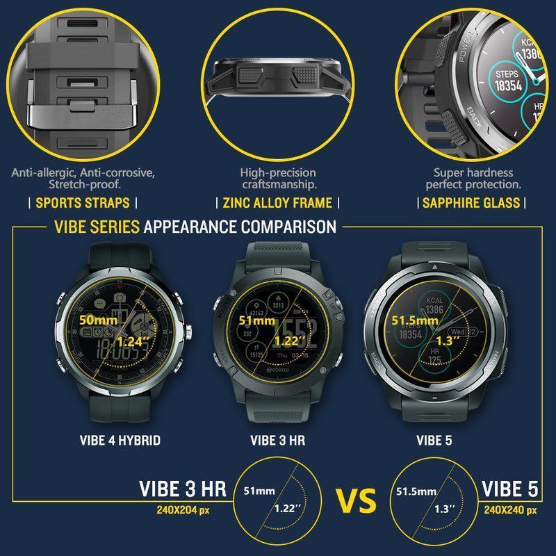 Zeblaze VIBE 5 IP67 Waterproof Heart Rate Multi-Sports Modes Men's