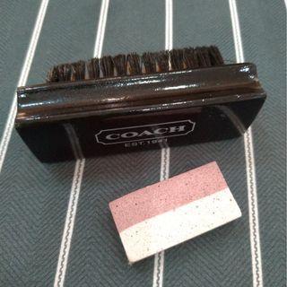 COACH【正品】 麂皮包包 清潔刷具組「內含刷子 & 橡皮擦」