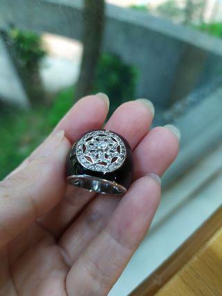 (首飾太多釋出)二手純銀鑽戒