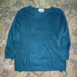 Sweater biru tua HK Works London