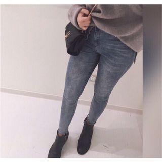 全新高腰顯瘦  歐美翹臀款牛仔褲